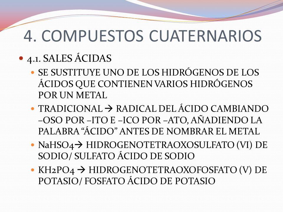 4. COMPUESTOS CUATERNARIOS
