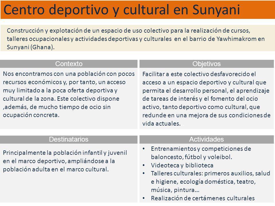 Centro deportivo y cultural en Sunyani