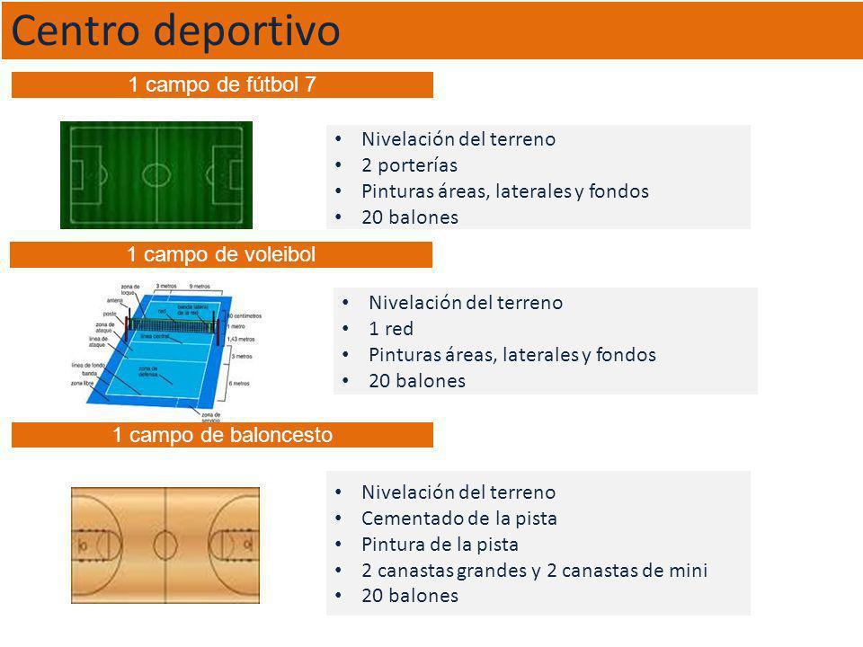 Centro deportivo 1 campo de fútbol 7 Nivelación del terreno