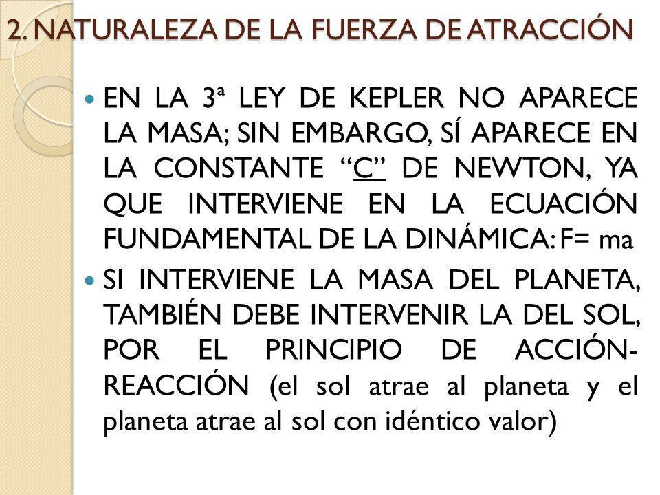 2. NATURALEZA DE LA FUERZA DE ATRACCIÓN