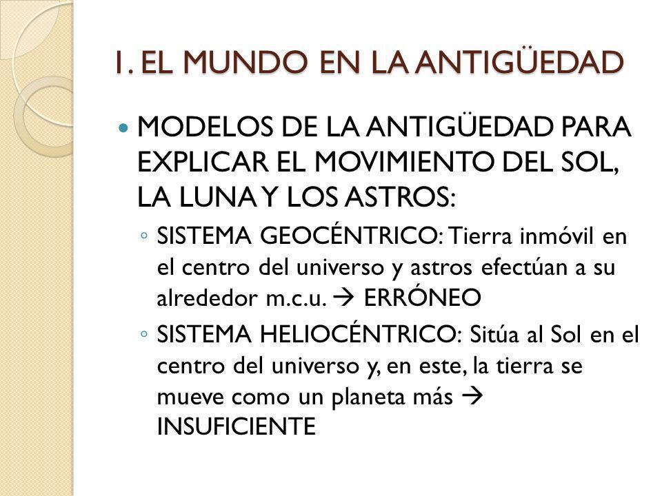 1. EL MUNDO EN LA ANTIGÜEDAD