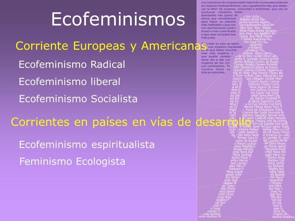 Ecofeminismos Corriente Europeas y Americanas