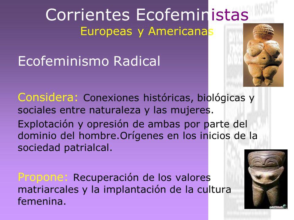 Corrientes Ecofeministas Europeas y Americanas