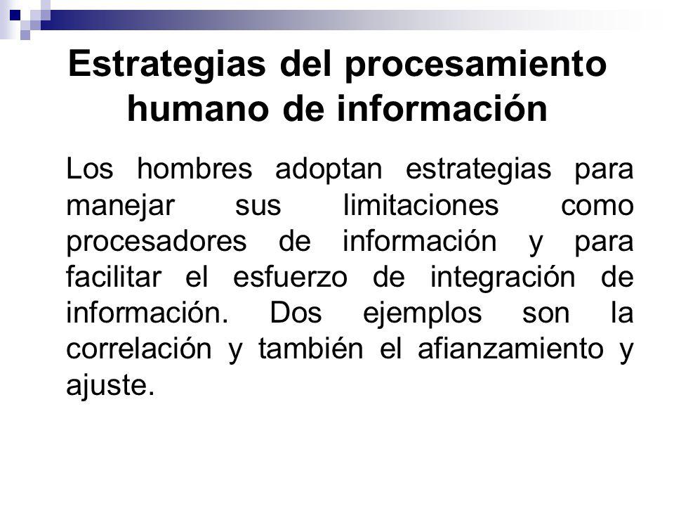 Estrategias del procesamiento humano de información