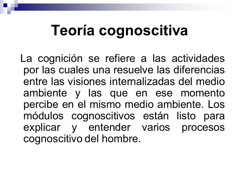 Teoría cognoscitiva