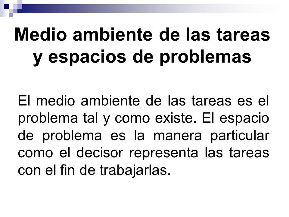 Medio ambiente de las tareas y espacios de problemas
