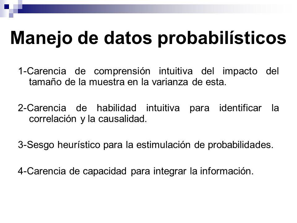 Manejo de datos probabilísticos