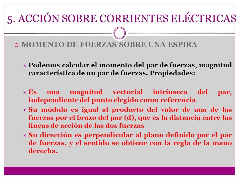 5. ACCIÓN SOBRE CORRIENTES ELÉCTRICAS