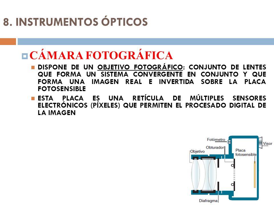 8. INSTRUMENTOS ÓPTICOS CÁMARA FOTOGRÁFICA