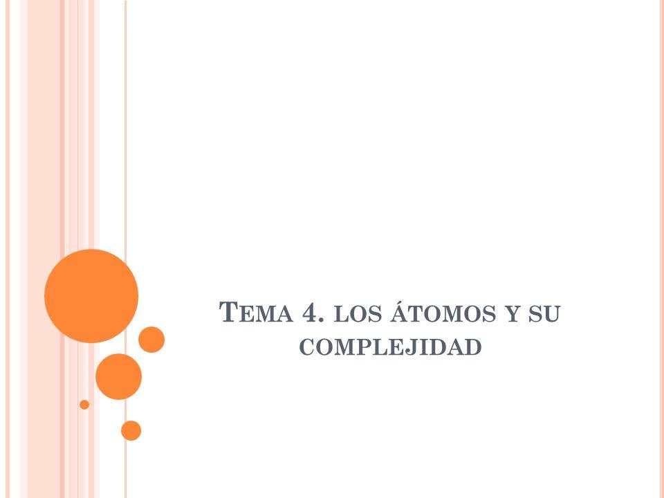 Tema 4. los átomos y su complejidad