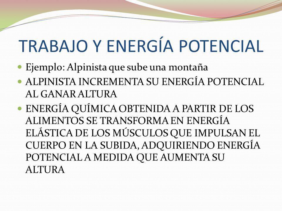 TRABAJO Y ENERGÍA POTENCIAL