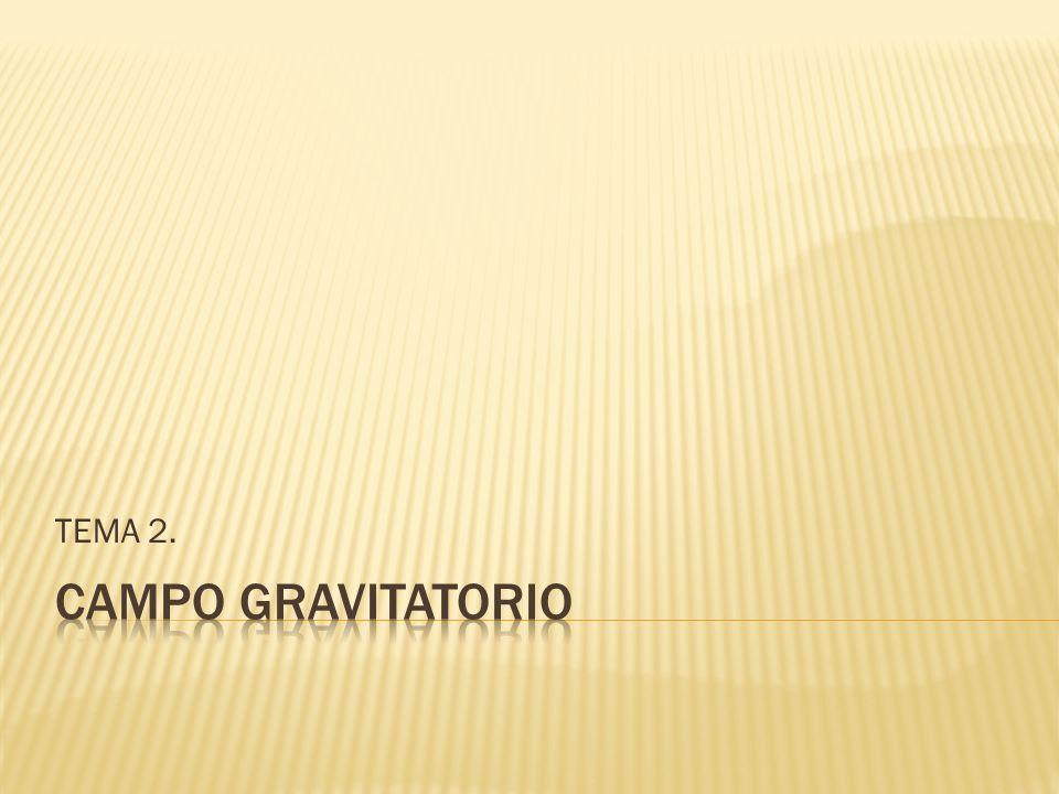 TEMA 2. CAMPO GRAVITATORIO
