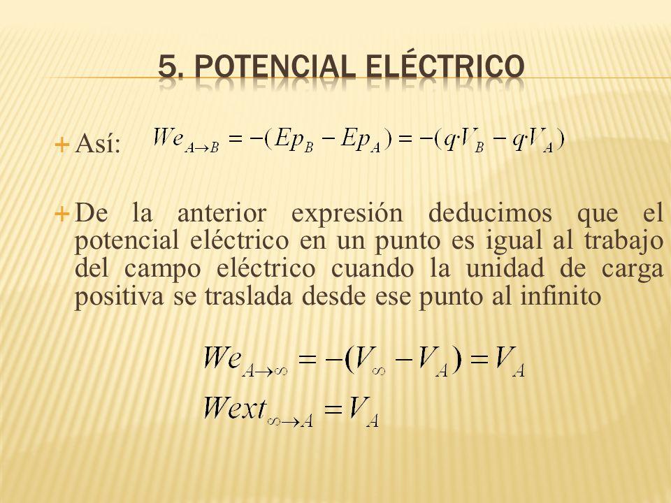 5. potencial eléctrico Así:
