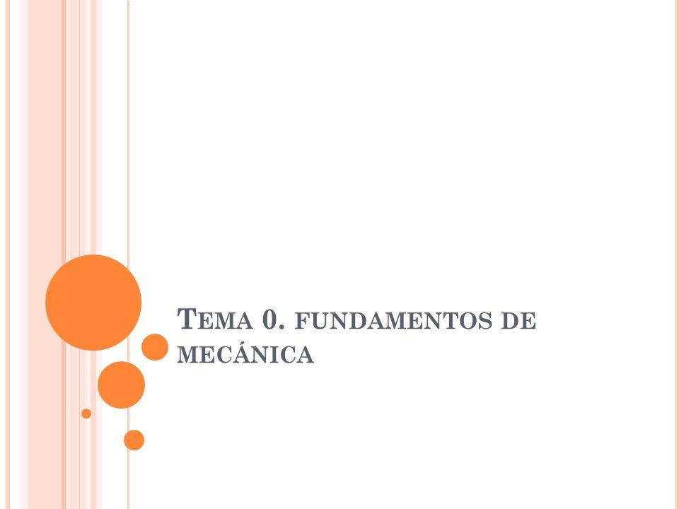 Tema 0. fundamentos de mecánica