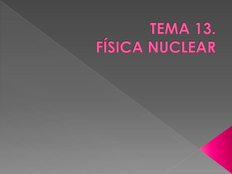 TEMA 13. FÍSICA NUCLEAR