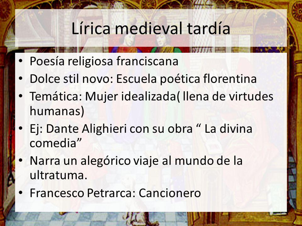 Lírica medieval tardía