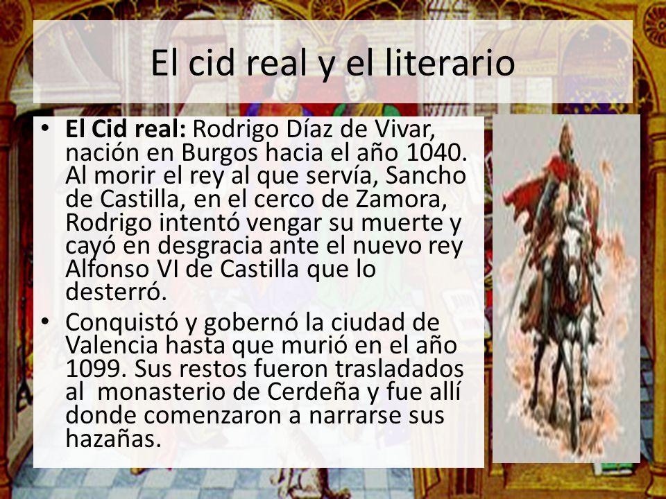 El cid real y el literario