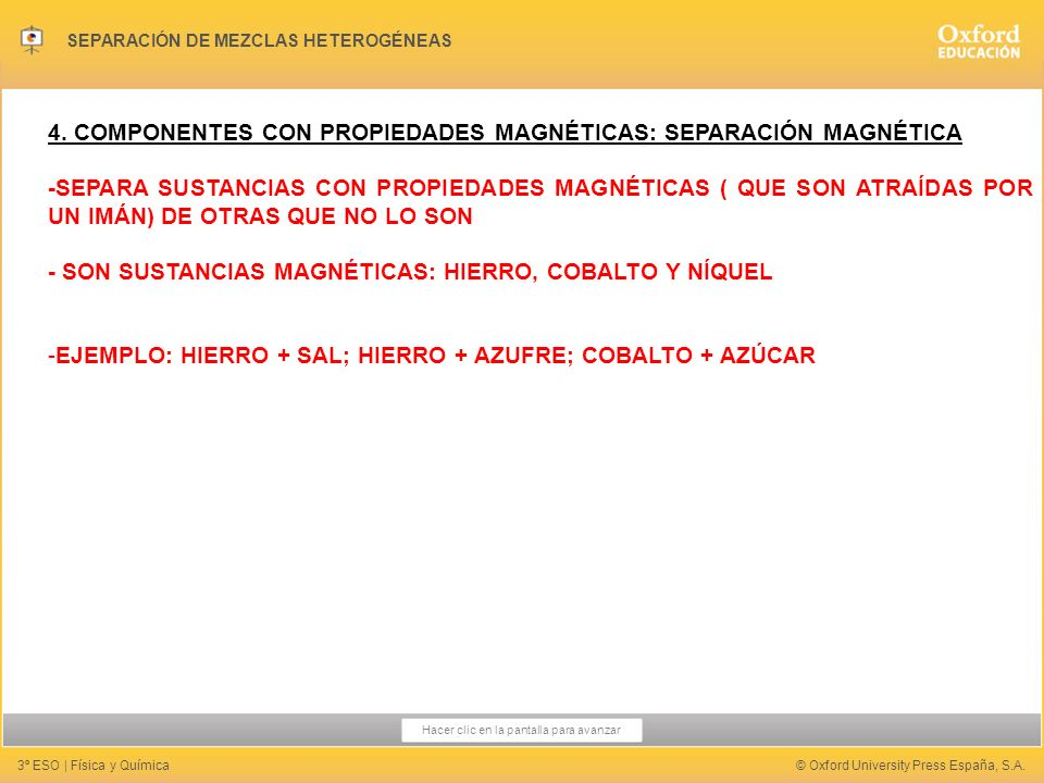 4. COMPONENTES CON PROPIEDADES MAGNÉTICAS: SEPARACIÓN MAGNÉTICA