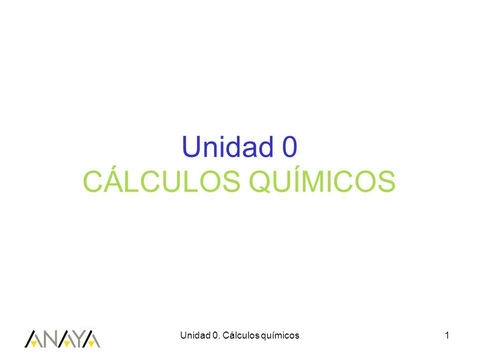 Unidad 0 CÁLCULOS QUÍMICOS