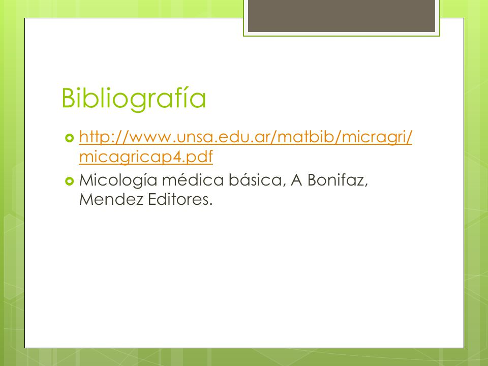 Bibliografía http://www.unsa.edu.ar/matbib/micragri/micagricap4.pdf