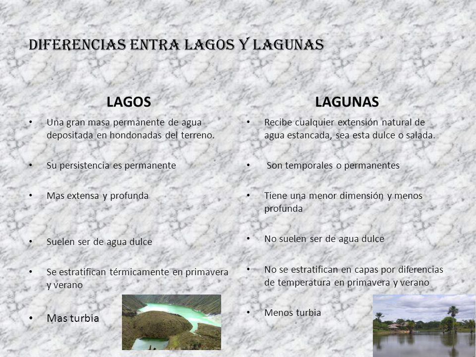 DIFERENCIAS ENTRA LAGOS Y LAGUNAS
