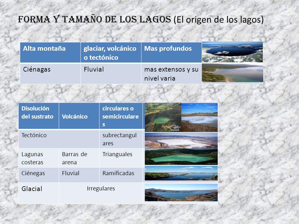 Forma y tamaño de los lagos (El origen de los lagos)
