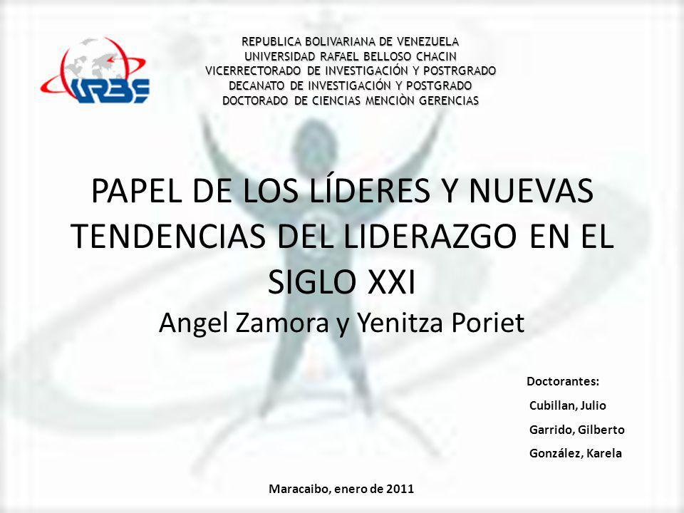 REPUBLICA BOLIVARIANA DE VENEZUELA UNIVERSIDAD RAFAEL BELLOSO CHACIN VICERRECTORADO DE INVESTIGACIÓN Y POSTRGRADO DECANATO DE INVESTIGACIÓN Y POSTGRADO DOCTORADO DE CIENCIAS MENCIÒN GERENCIAS