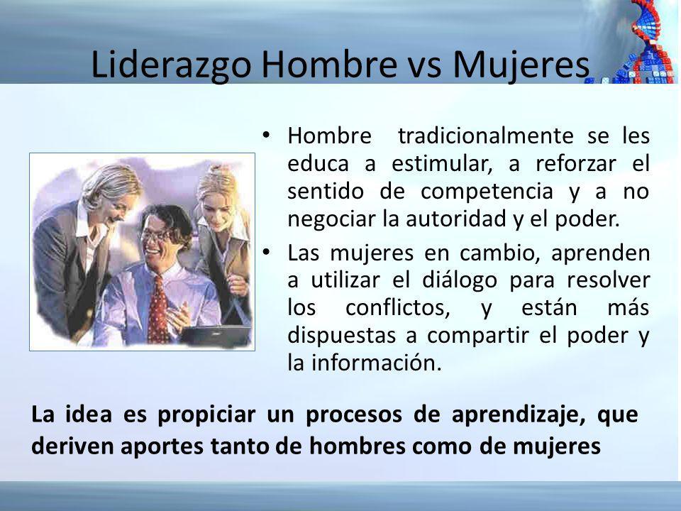 Liderazgo Hombre vs Mujeres