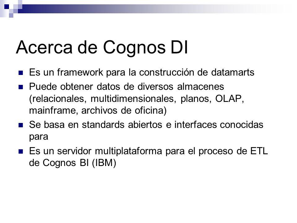 Acerca de Cognos DI Es un framework para la construcción de datamarts