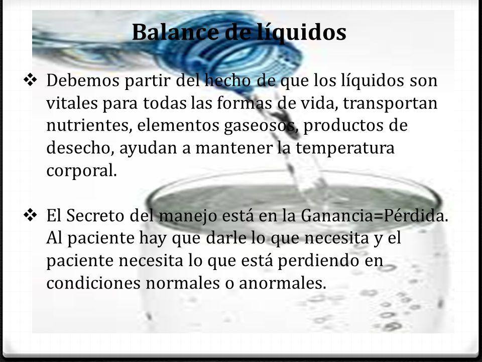 Balance de líquidos
