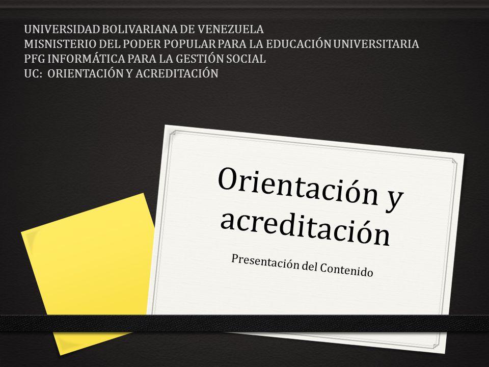 Orientación y acreditación