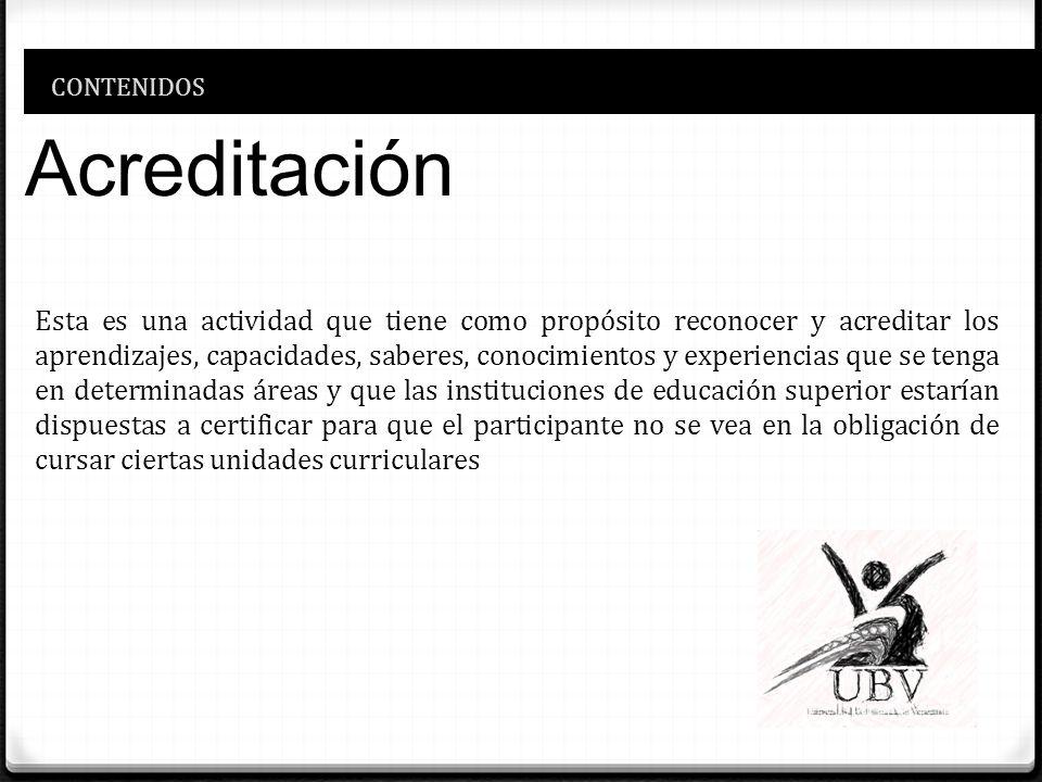CONTENIDOS Acreditación.