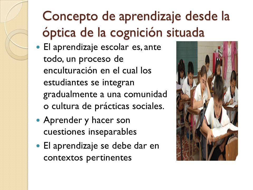 Concepto de aprendizaje desde la óptica de la cognición situada