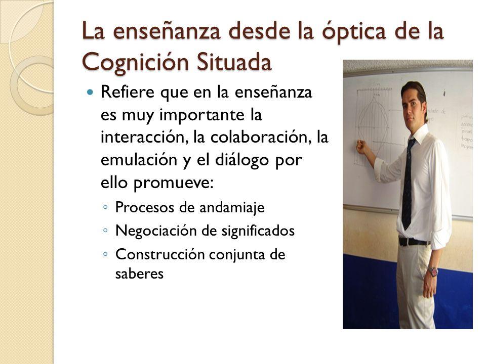 La enseñanza desde la óptica de la Cognición Situada