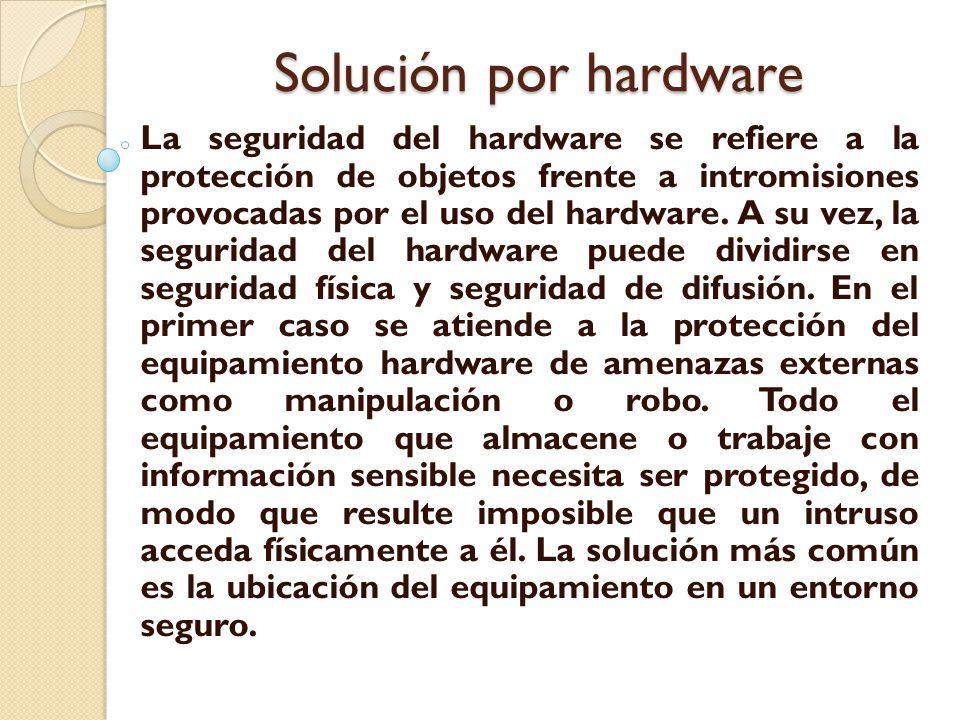 Solución por hardware