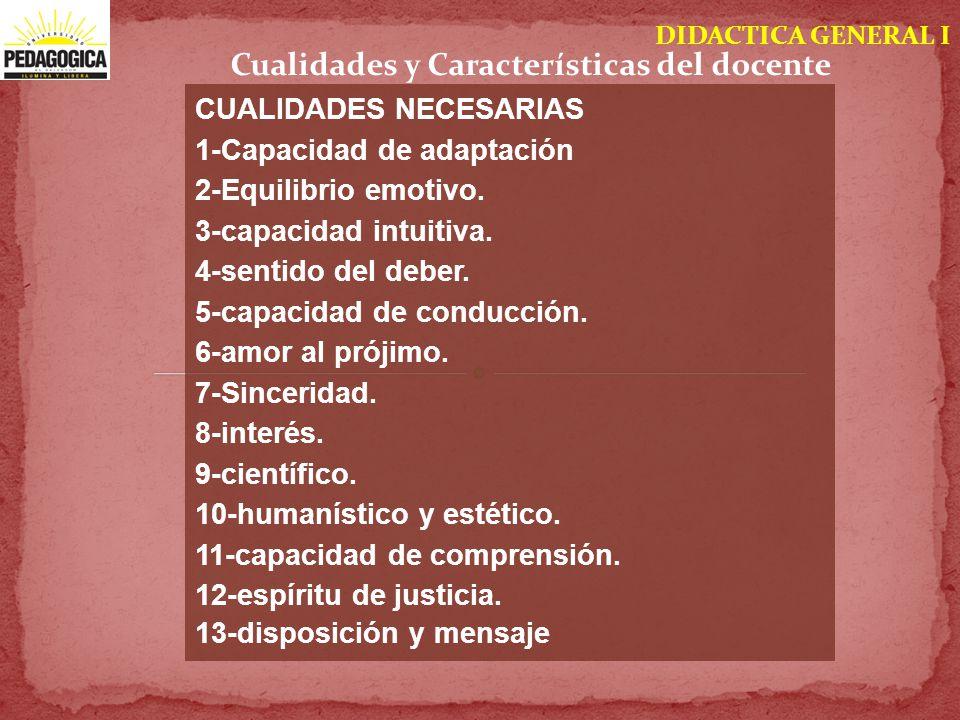 Cualidades y Características del docente
