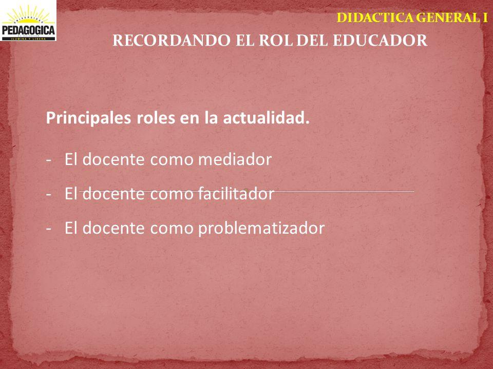 RECORDANDO EL ROL DEL EDUCADOR