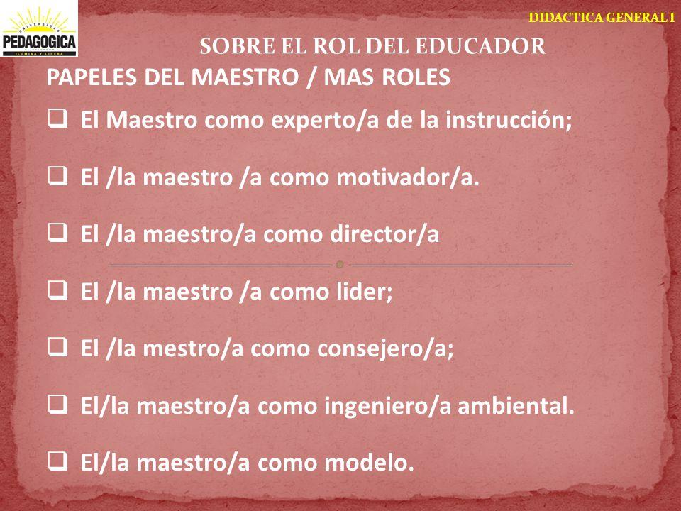 SOBRE EL ROL DEL EDUCADOR