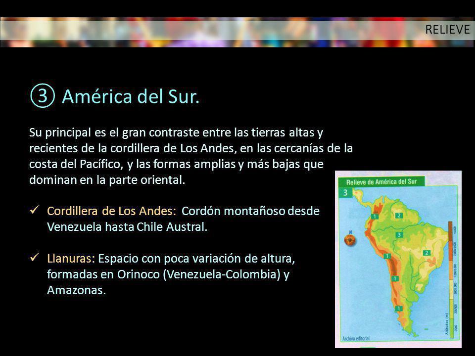 América del Sur. RELIEVE