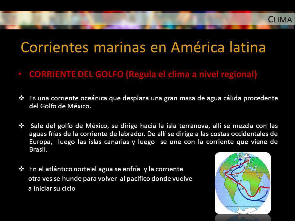Corrientes marinas en América latina
