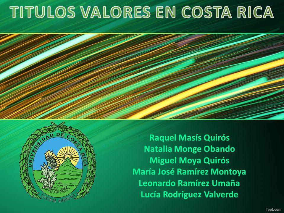 TITULOS VALORES EN COSTA RICA