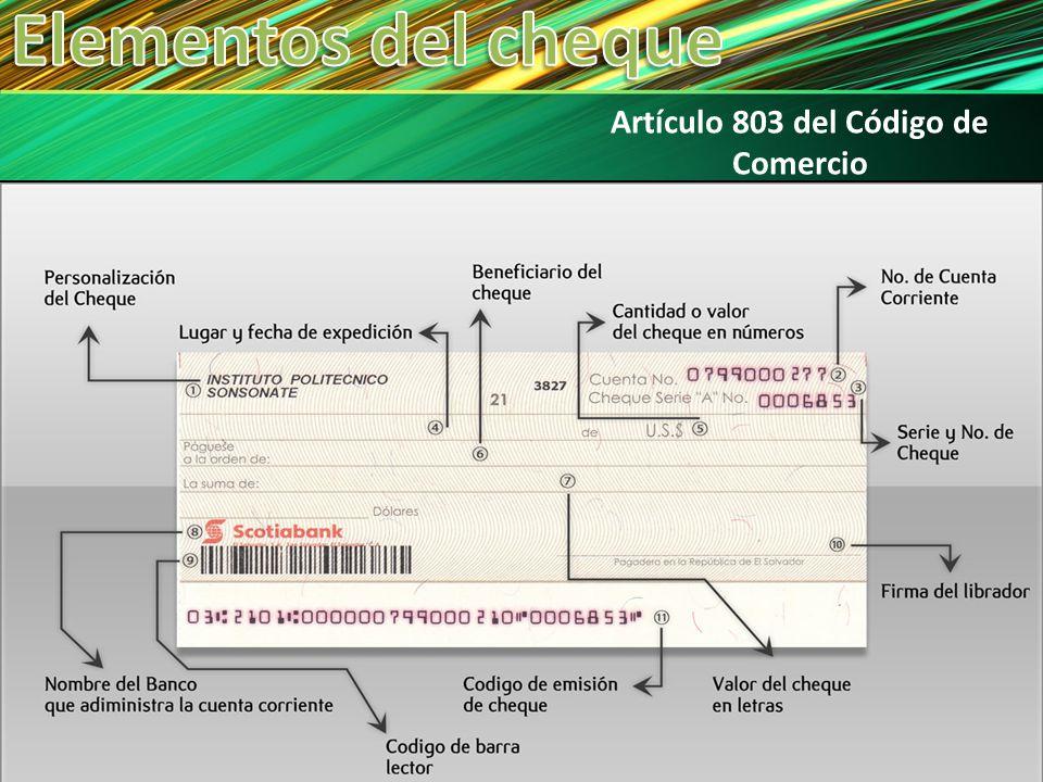 Artículo 803 del Código de Comercio
