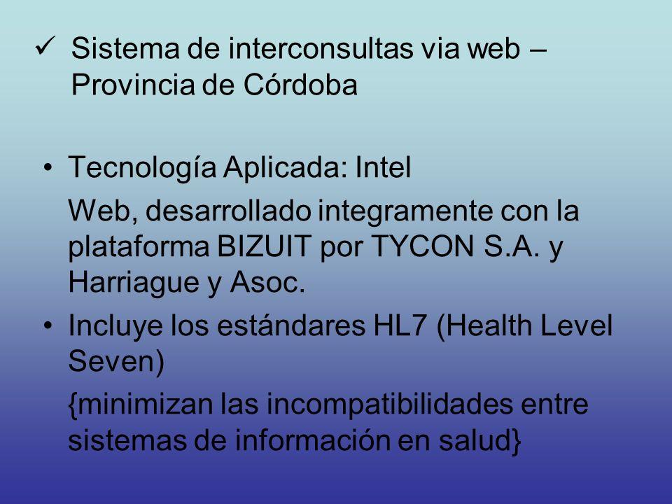 Sistema de interconsultas via web – Provincia de Córdoba