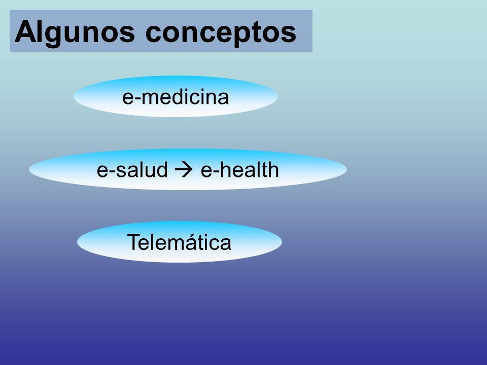 Algunos conceptos e-medicina e-salud  e-health Telemática