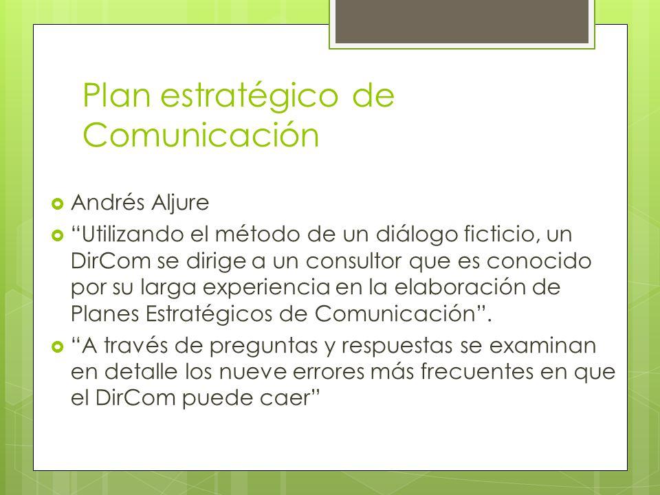 Plan estratégico de Comunicación