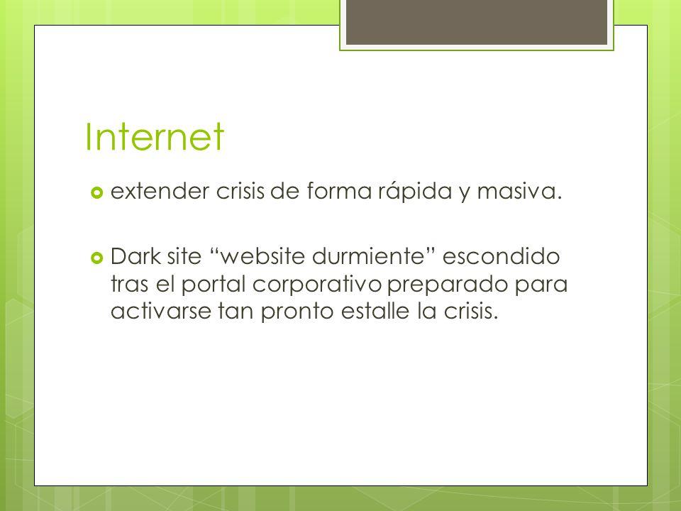 Internet extender crisis de forma rápida y masiva.