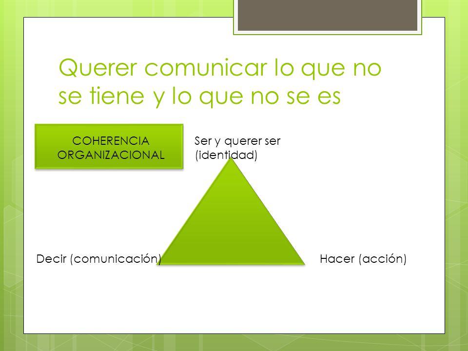 Querer comunicar lo que no se tiene y lo que no se es