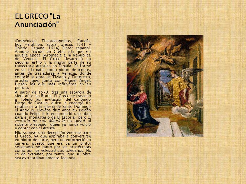 EL GRECO La Anunciación
