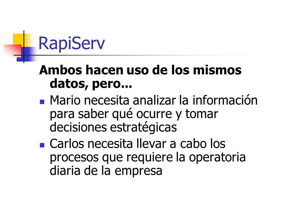 RapiServ Ambos hacen uso de los mismos datos, pero...