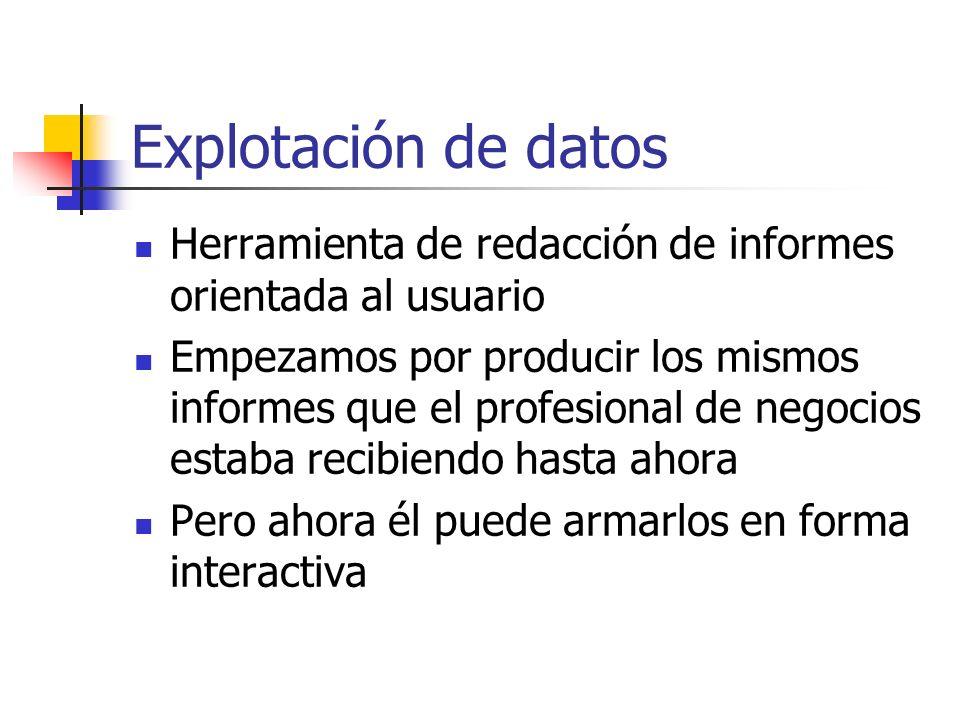 Explotación de datos Herramienta de redacción de informes orientada al usuario.